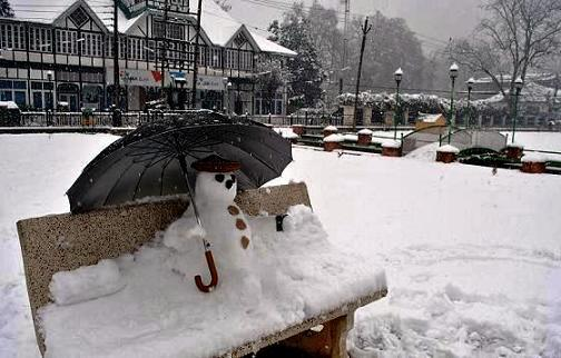 Snowfall in Kashmir After a