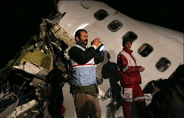 Plane crash in northeastern city of Uroumiyeh leaves at least 70 dead and 33 injured