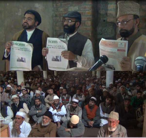weekly tabloid – Taqrib Friday Special - published in four languages (English, Arabic, Persian, Urdu) focusing on Muslim unity and proximity, was released by Mirwaiz central Kashmir and Jamia Masjid Beerwa's Friday prayer leader, Maulana Syed Abdul Lateef, senior Hurriyat Conference leader, Zaffar Akbar Bhat, and TNA Bureau chief, Abdulhussain Kashmiri.