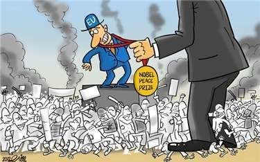 Afbeeldingsresultaat voor the US and EU killing civilians cartoon