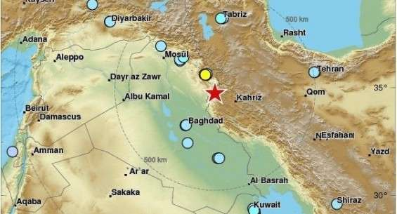 At least 450 dead along Iraq-Iran border magnitude after 7.3 earthquake