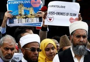 London Muslims in demonstration of solidarity after the 3 June London Bridge militant attack (AFP)