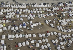 Aerial view of the camps set up in quake-stricken Province of Kermanshah (photo)