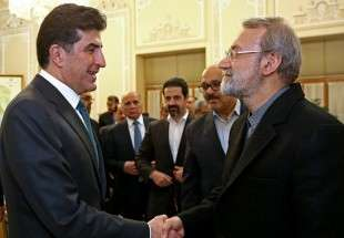 Larijani meets with KRG premier (Photo)