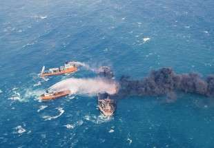 Sanchi sank on 14 January after colliding with freighter on 6 January in world