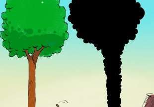 Iranians mark national Arbor Day (cartoon)