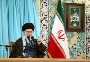 Supreme Leader delivers speech in holy shrine of Imam Reza (AS), Mashhad (photo)