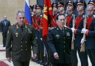 China stresses presence in Moscow as show of unity with Russia