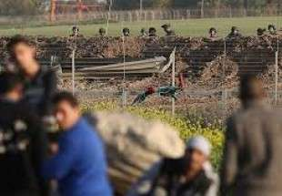 Israeli forces, Palestinians clash near Gaza fence