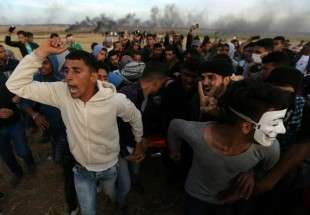Israeli forces, Palestinians clash on Gaza border3 (photo)