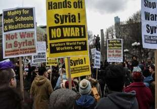 New York protesters rally against Syria strike