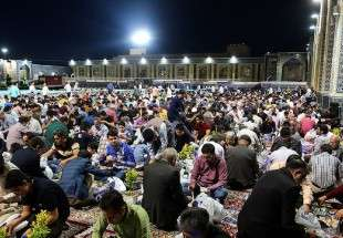 Iftar meal at holy shrine of Imam Reza (AS)