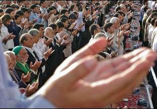 Fitr Eid prayers in Iran
