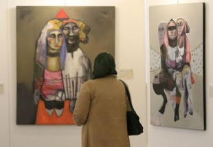 Iraqi painting exhibition pictures Daesh crimes