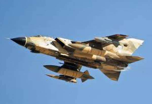 A file photo of Tornado fighter jet belonging to Saudi Arabia shot by Yemen's army forces.