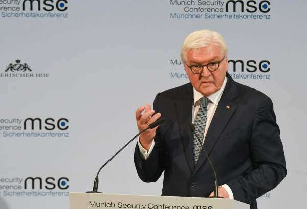 German President Frank-Walter Steinmeier delivering speech at the opening ceremony of the 56th Munich Security Conference (MSC) in Munich on February 14, 2020 (Photo: AFP)