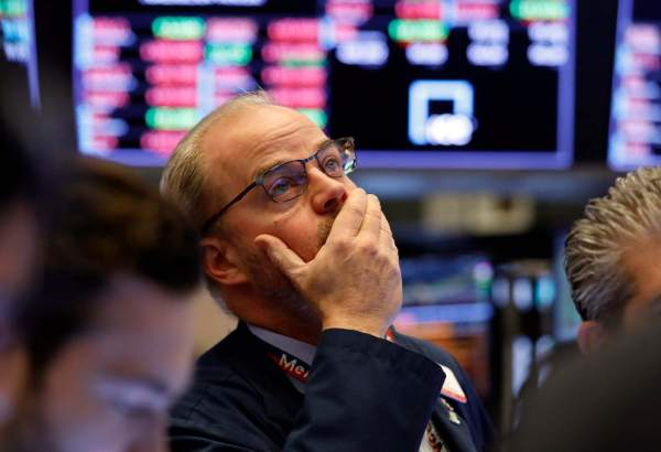 A trader on the floor of the New York Stock Exchange on Friday