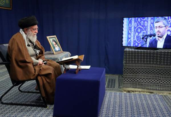 Supreme Leader attends Qur'an recitation ceremony via videoconference (photo)