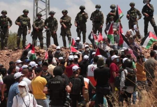 Israeli forces clash with Palestinians protesting annexation plan in Nablus (photo)