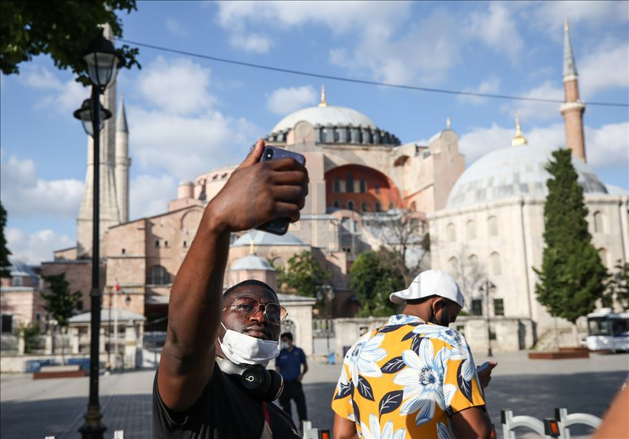 Hagia Sophia grabs attentions following reconversion to mosque (photo)