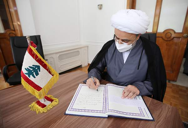 Hojjatoleslam Shahriari visits Lebanon embassy to offer condolences on Beirut port explosion
