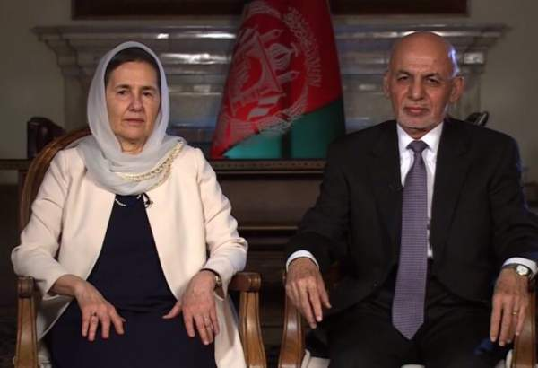 Afghan President Ashraf Ghani (right) and his wife Rula appear in an interview with CNN