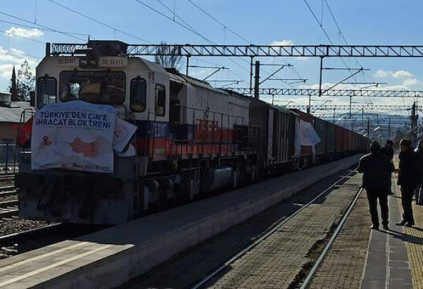 Export trains depart from Turkey to China, Russia