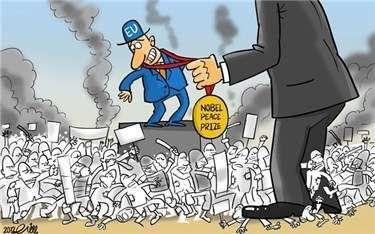 Afbeeldingsresultaat voor the US and EU killing civilians cartoon